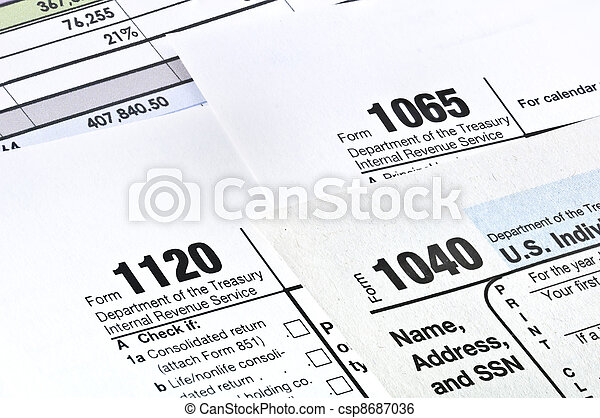 Tax forms. - csp8687036