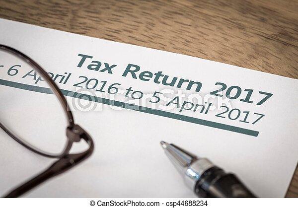 Tax return 2017 - csp44688234