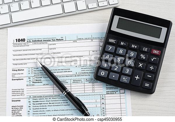 Tax return blank - csp45030955