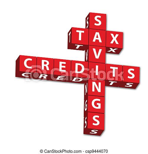 Tax Savings and credits - csp9444070