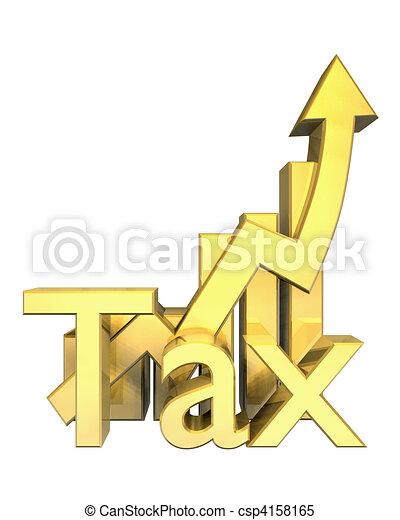 Tax statistics graphic in gold  - csp4158165