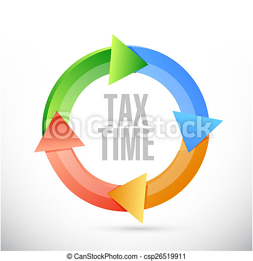 tax time cycle sign illustration design - csp26519911