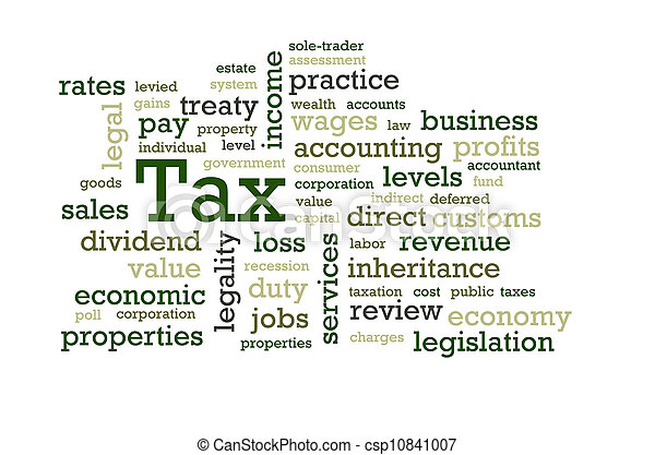 Tax Word Cloud - csp10841007