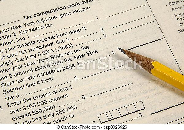 Tax Worksheet 2 - csp0026926