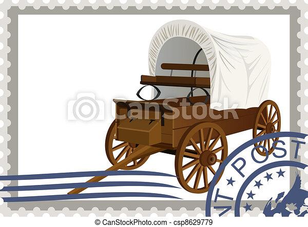taxa postal, coberto, stamp., vagão - csp8629779
