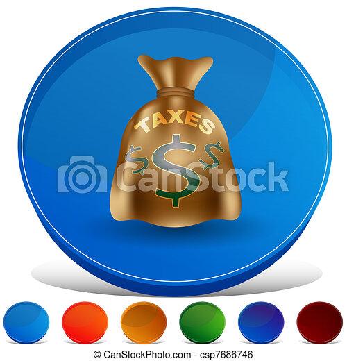 Taxes Bag Gemstone Button Set - csp7686746