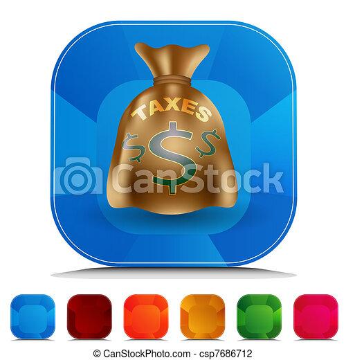 Taxes Bag Gemstone Button Set - csp7686712