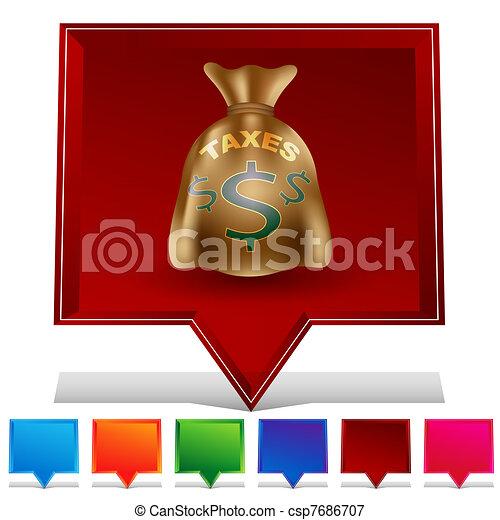 Taxes Bag Gemstone Button Set - csp7686707