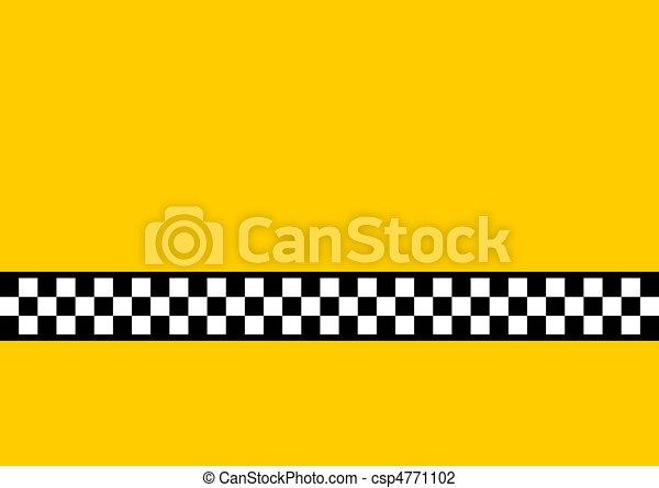 Taxi amarillo - csp4771102
