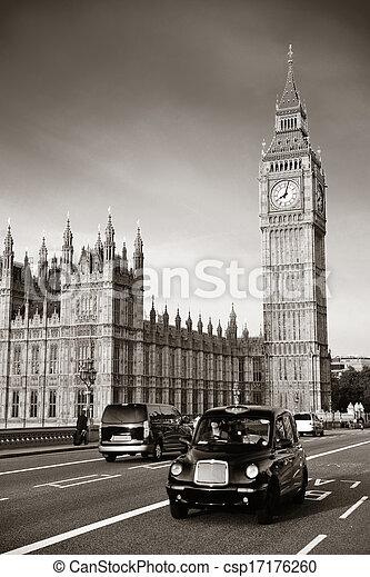 Taxi and Big Ben - csp17176260