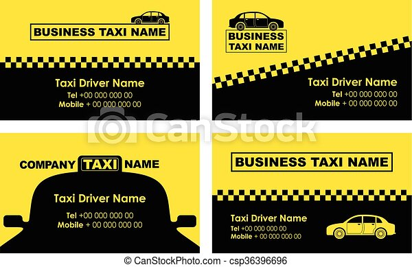 Taxi Background Business Card