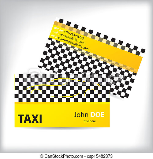 Taxi business card ideal for taxi drivers checkered taxi business taxi business card ideal for taxi drivers csp15482373 colourmoves