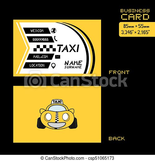 Creative Design Of Taxi Business Card