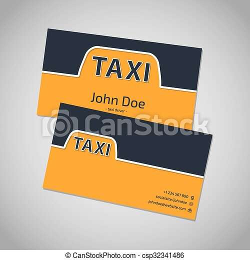 Taxi business card template design with taxi sign vector search taxi business card template design csp32341486 reheart Image collections