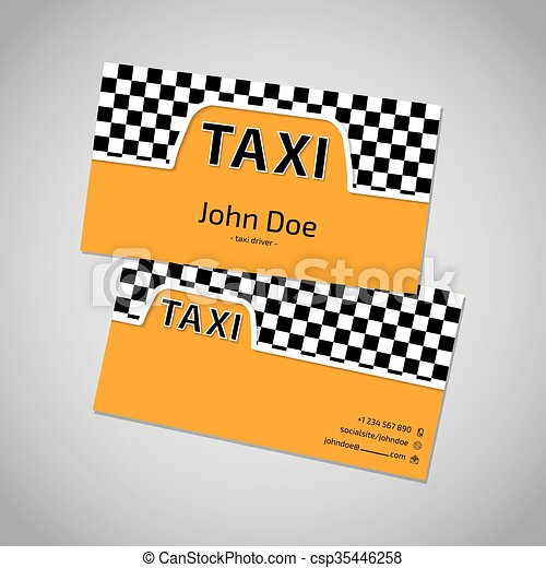 Taxi business card with cab symbol taxi business card template taxi business card with cab symbol csp35446258 reheart Image collections
