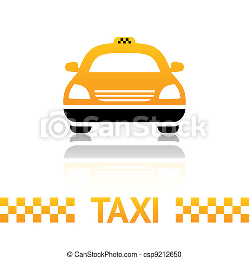 Taxi cab symbol on white background - csp9212650