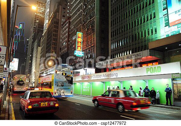 Taxi cabs in Hong Kong, China - csp12477972