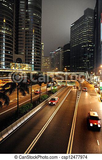 Taxi cabs in Hong Kong, China - csp12477974
