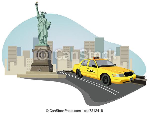 Un taxi de Nueva York - csp7312418