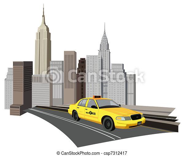 Un taxi de Nueva York - csp7312417