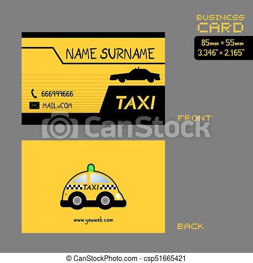 Taxi Driver Business Card Art