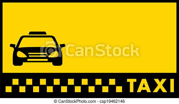 Telón de fondo para tarjeta de visita de taxi - csp19462146
