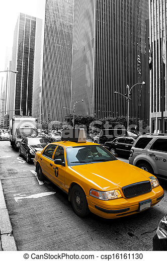 Taxi in the city - csp16161130