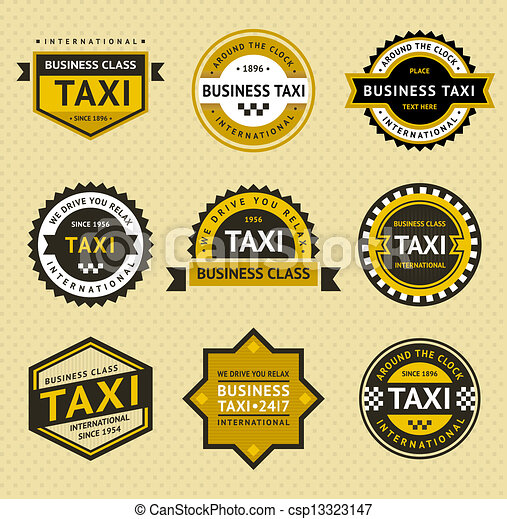 Taxi insignia - vintage style - csp13323147