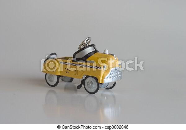 taxi, pedaal, -, auto - csp0002048
