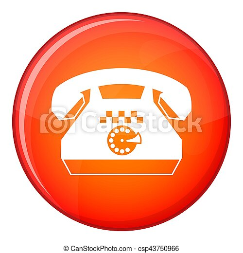 Taxi phone icon, flat style - csp43750966