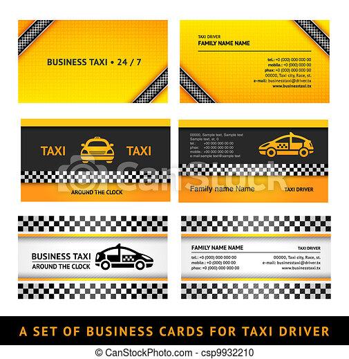 Taxi, plantillas, conjunto, empresa / negocio, tercero, -, tarjeta.
