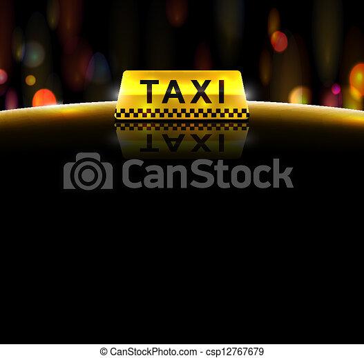 Taxi service - csp12767679