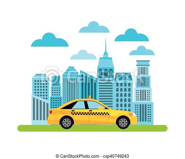 taxi service public transport - csp40749243