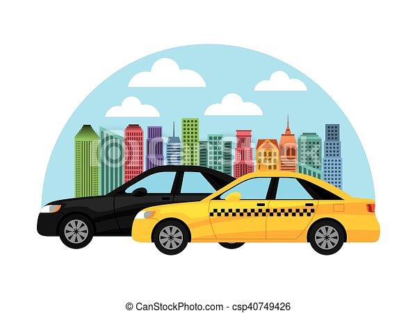 taxi service public transport - csp40749426
