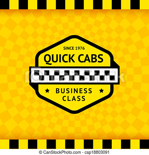 Taxi symbol with checkered background - 11 - csp18803091