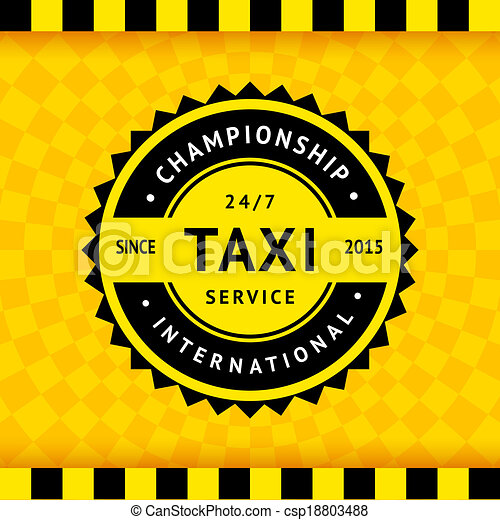 Taxi symbol with checkered background - 15 - csp18803488