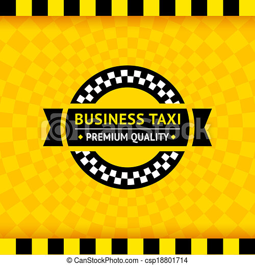 Taxi symbol with checkered background - 01 - csp18801714