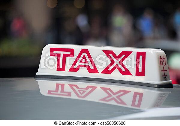 taxi, tetto, segno - csp50050620