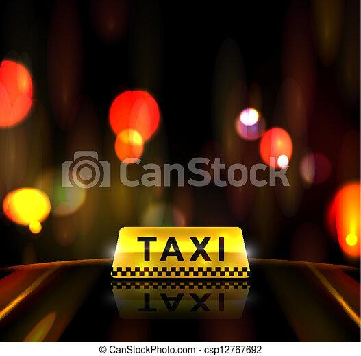 taxi, ville, service - csp12767692