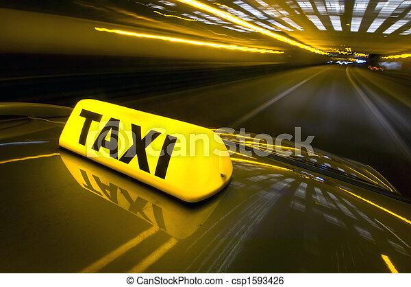 taxifahrzeuge, schnell - csp1593426