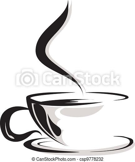 Silueta de café amante - csp9778232