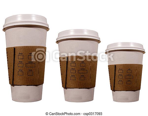 tazas de café - csp0317093