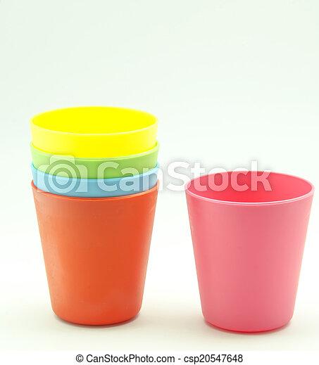 Vasos de plástico - csp20547648