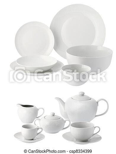 Platos de cerámica y vasos - csp8334399