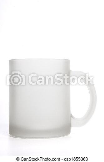 tazza bianca, isolato, stuoia - csp1855363