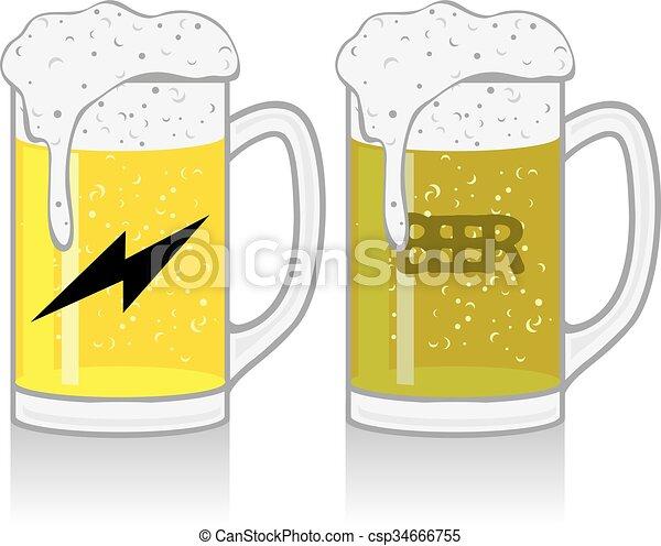 tazza birra, bianco - csp34666755