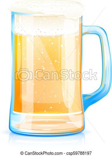 tazza birra bicchiere - csp59788197