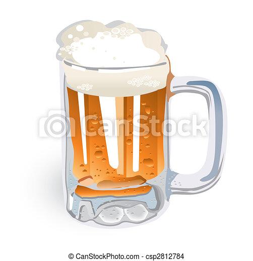 tazza birra, (vector) - csp2812784