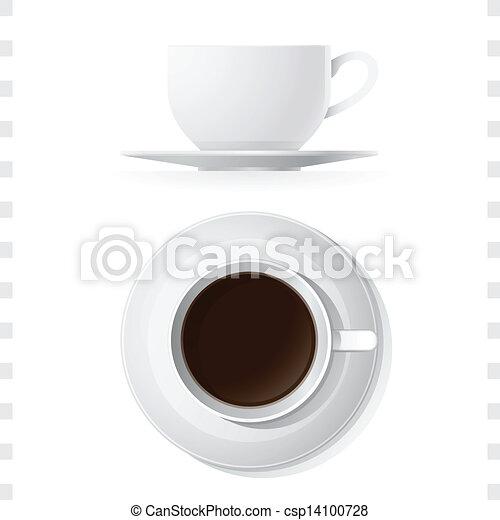 tazza caffè, cima, icone, vista laterale - csp14100728
