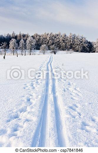tcheco, paisagem, república, inverno - csp7841846